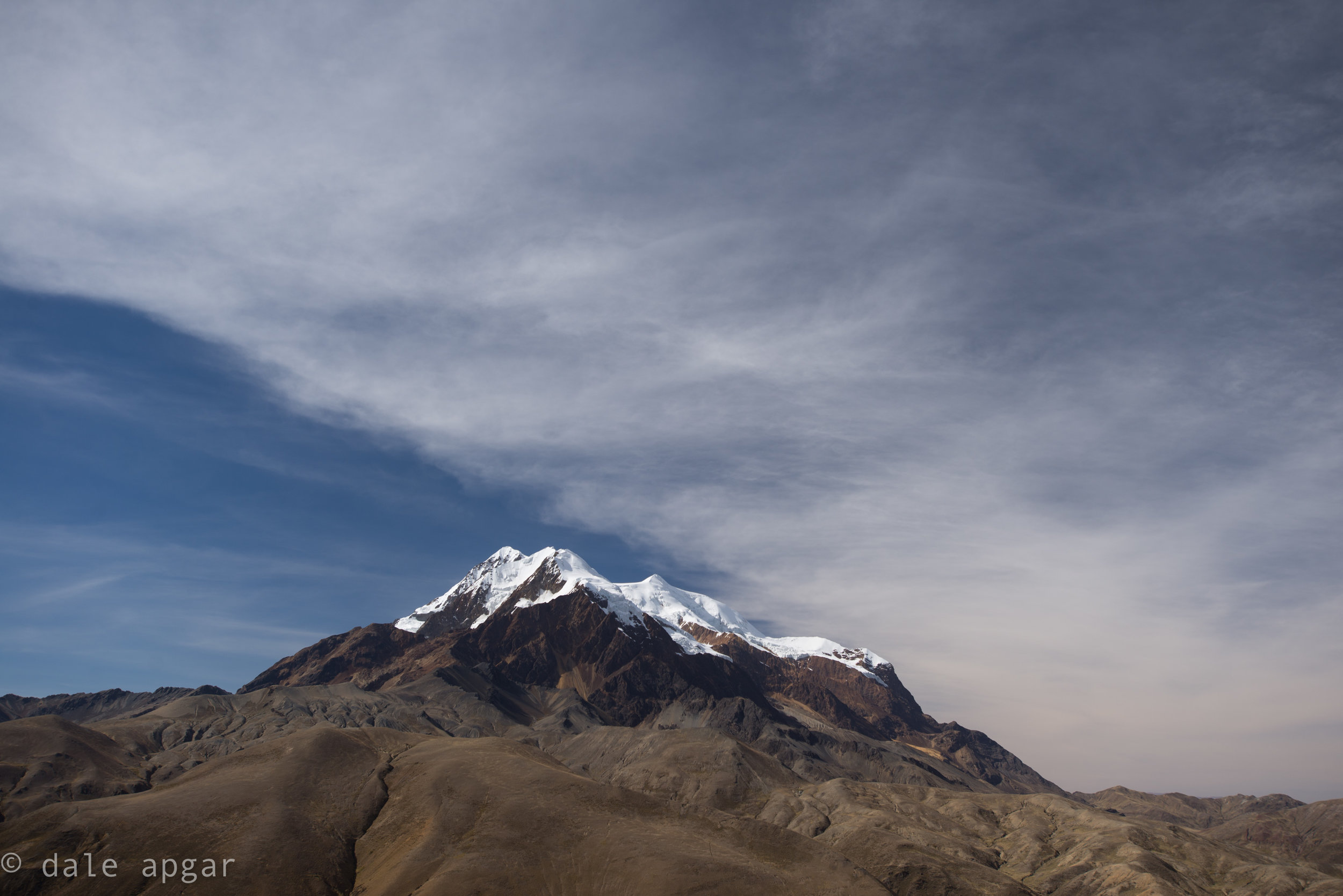 Approaching Illimani's trailhead from La Paz via some impressive backroads