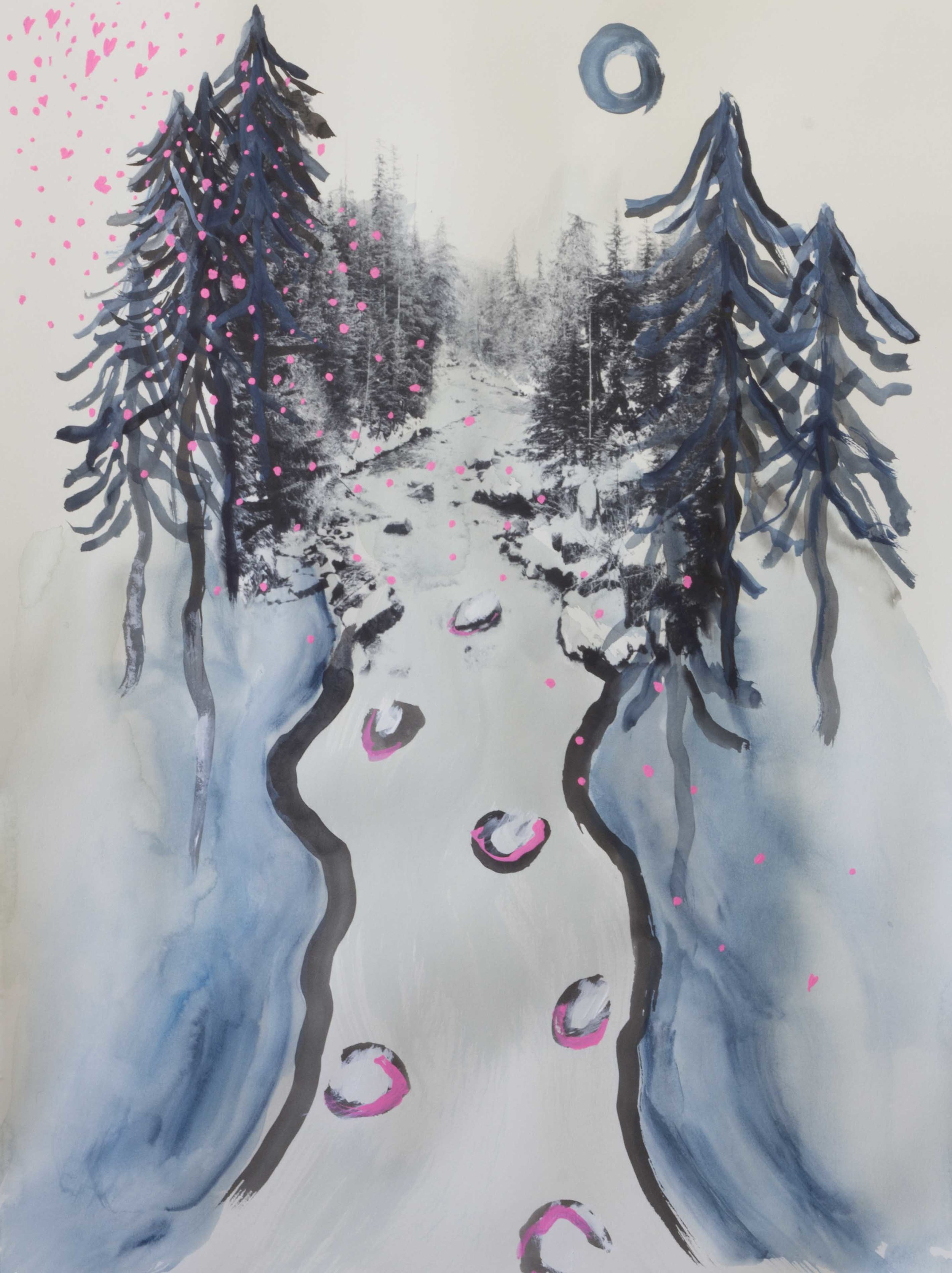 The year that winter never came so It snowed cherry blossoms instead 2 - 22x30 unframed