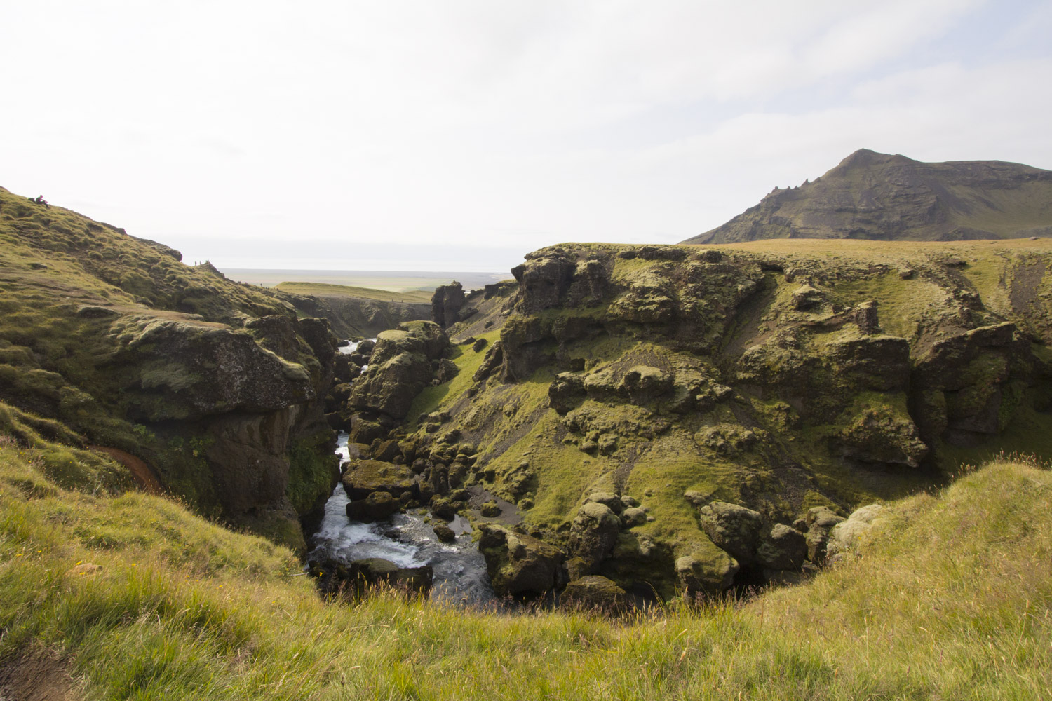 The start of an 18km hike at Skogafoss. Explored dozens of waterfalls until our legs were too tired to continue.