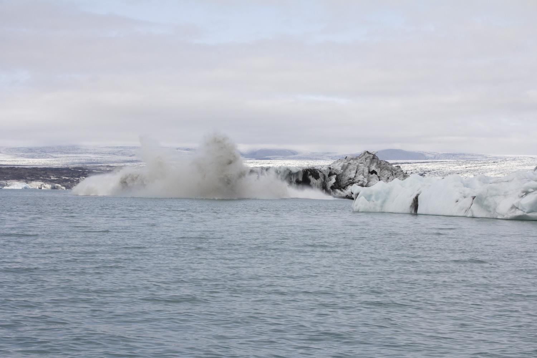 The iceberg chunk breaking off