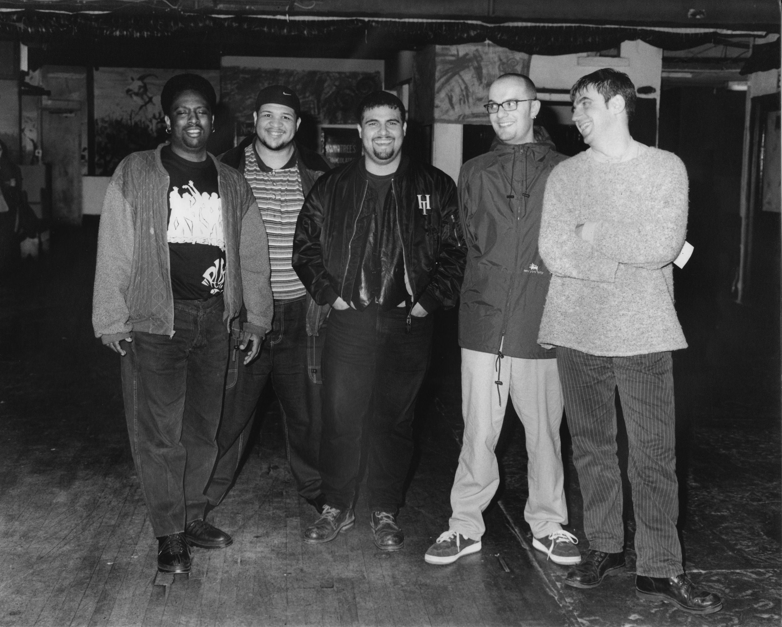 Glenn Underground, Boo Williams, Nelson Rosado, Justin Robertson, Greg Dowling (photo by Martin Healy)