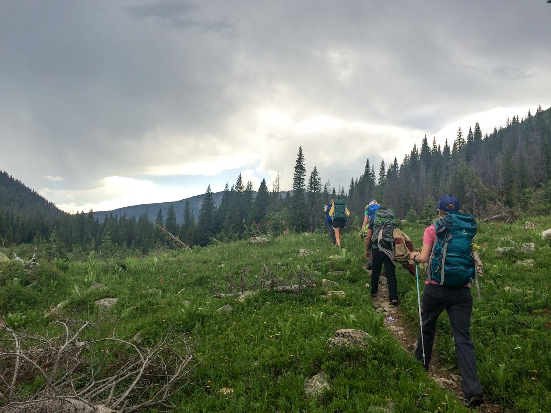Hiking back to camp.