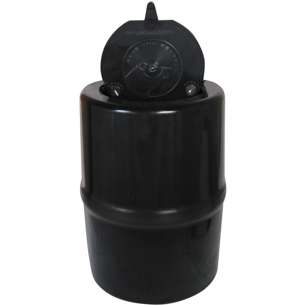 Garcia Bear-Resistant Canister  Weight: 44 oz Dimensions: 12x8.8 inches Cost: $74.95
