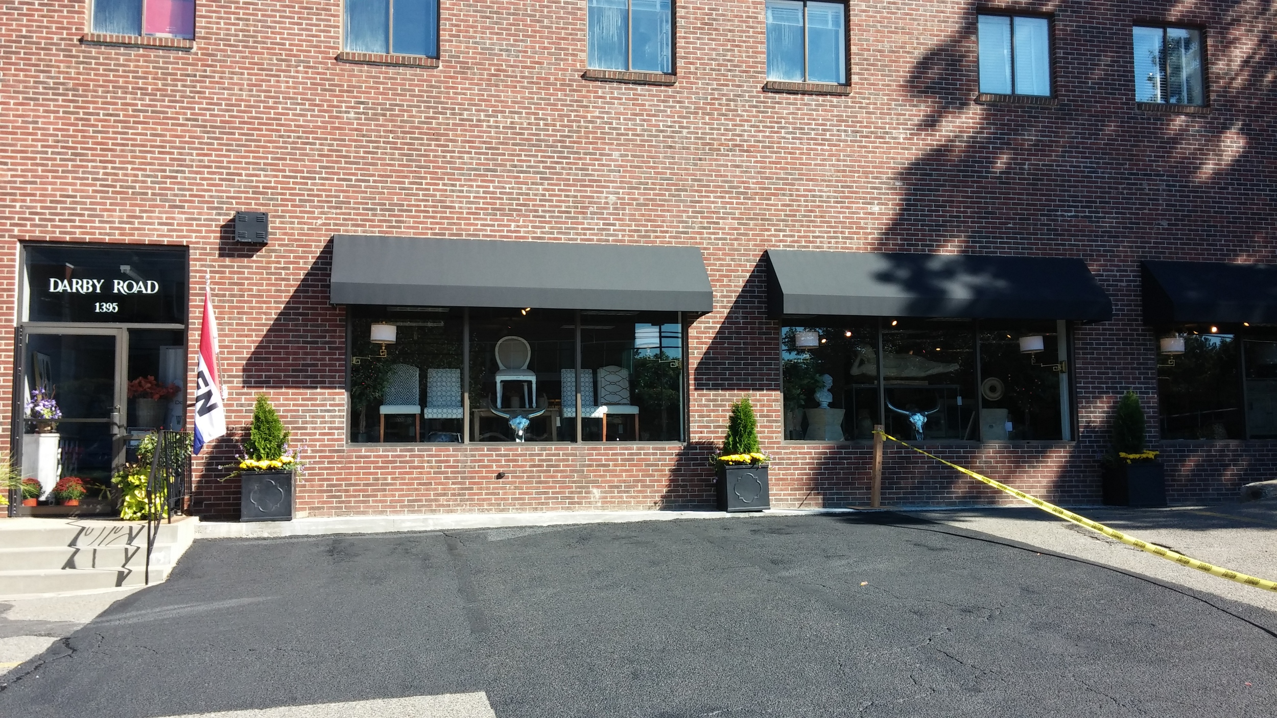 Installed window awnings