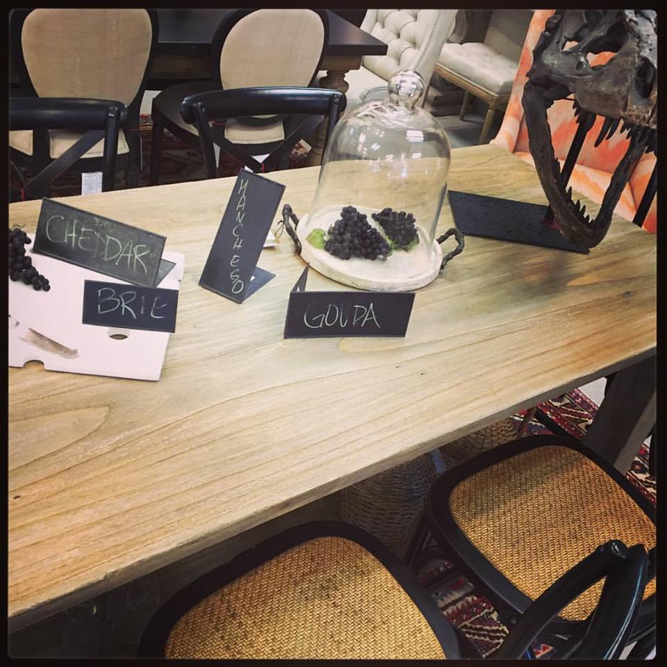 These self standing chalkboards are a great way to leave cheesy messages. (You're welcome.) We have a dynamic collection of dining tables, chairs, counter stools and bar stools to pick up for some extra seating.