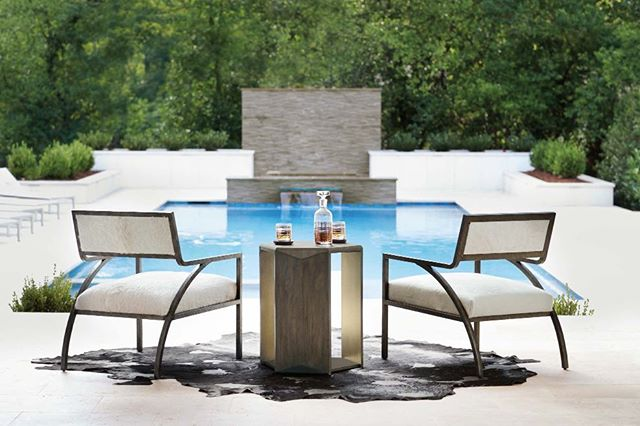This chair is available at DRH right now. Come see in person. In your home or by the pool it works! This homeowner had great taste! #design #interiors #interiordesign #bostoninteriors