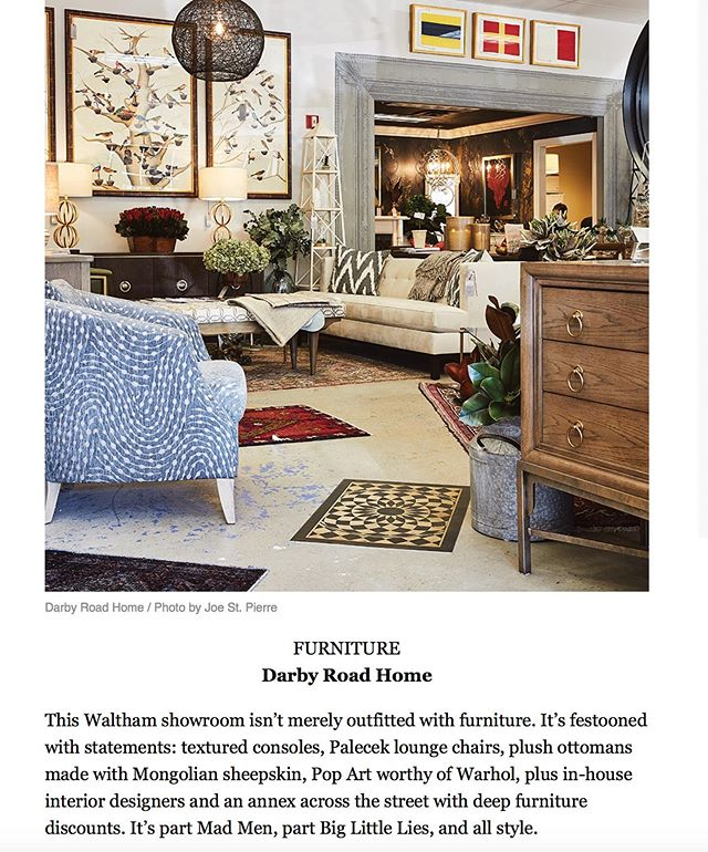 """I love the description of Darby Road HOME by Best of Boston Home: """"It's part Mad Men, part Big Little Lies"""". 2 of my favorite shows! #madmen #style #bestofboston #interiors #interiordesign"""