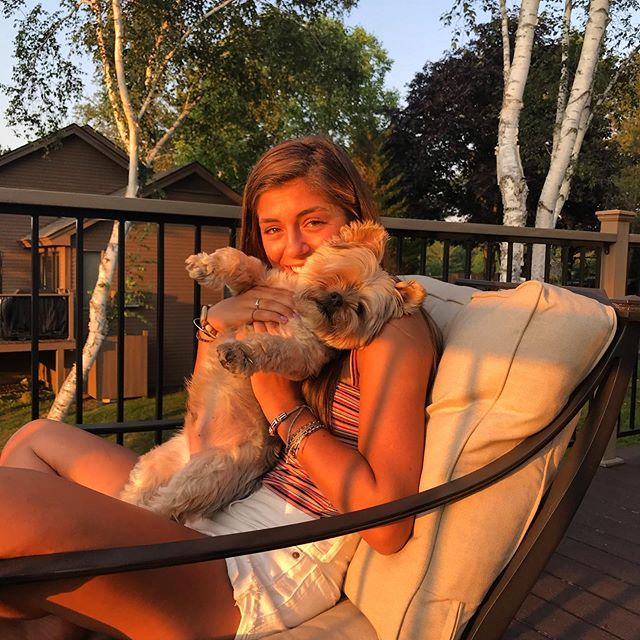 My baby girl and my baby doggy. #summerinvt #ilovemydog #ilovemydaughter