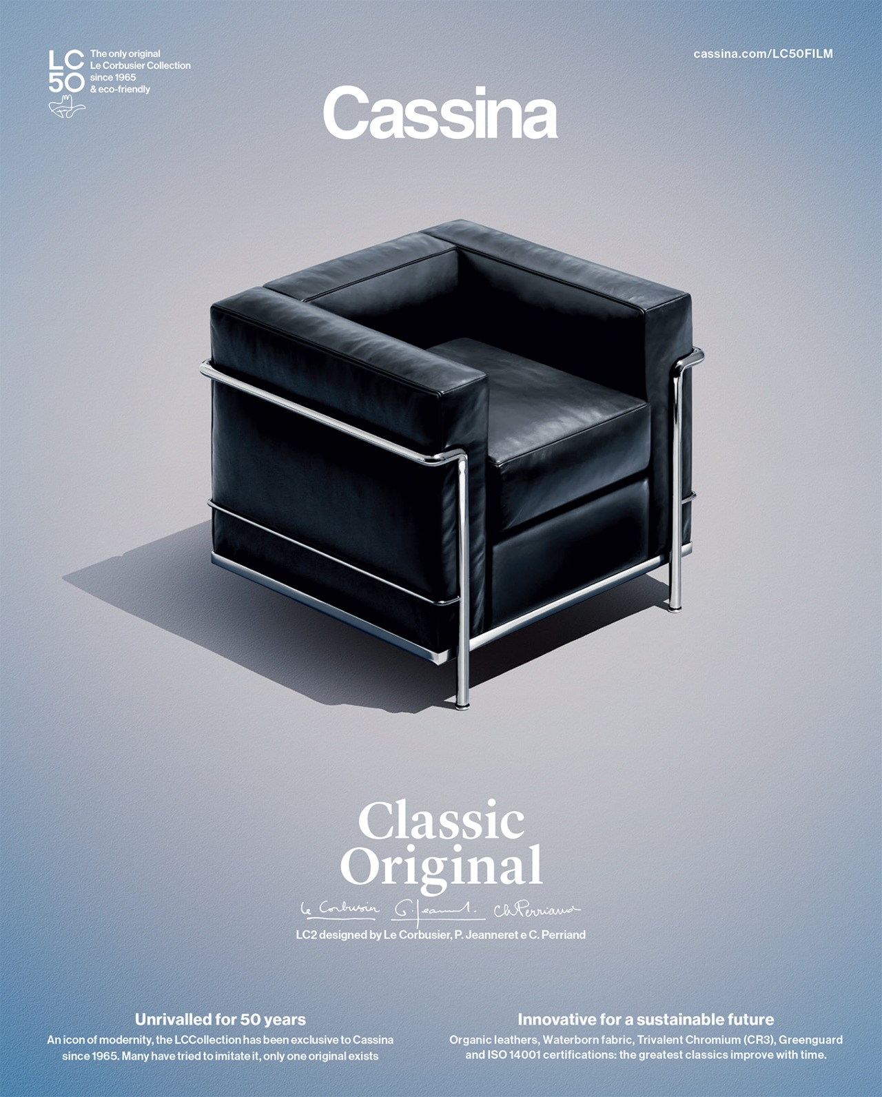 WORLDWIDE CAMPAIGN FOR CASSINA 50TH ANNIVERSARY OF LC COLLECTION