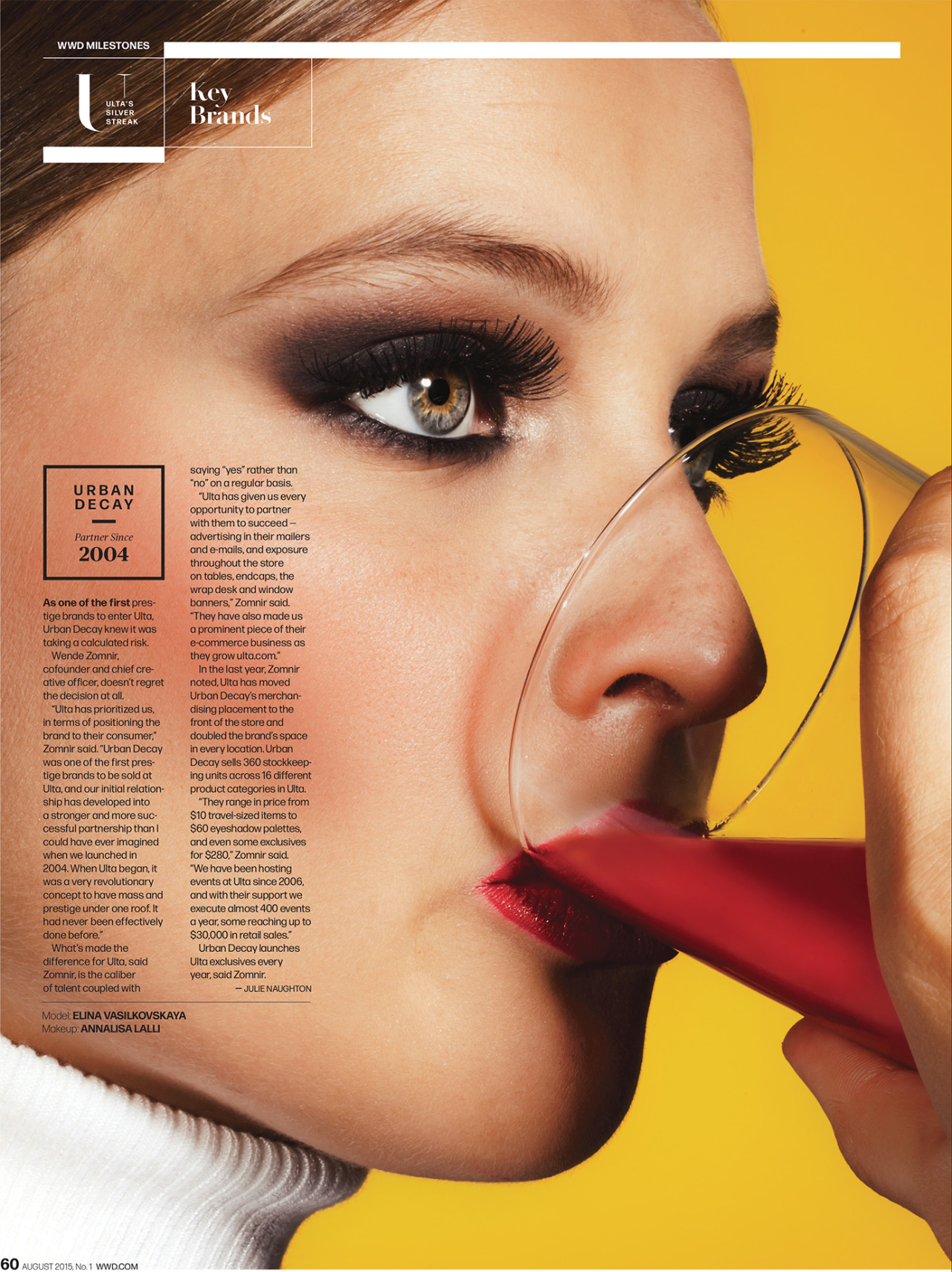 URBAN DECAY FOR    WWD MAGAZINE  (2015)