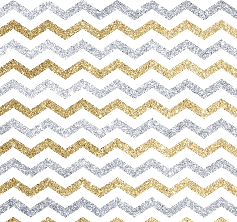 Gold And Silver Chevron