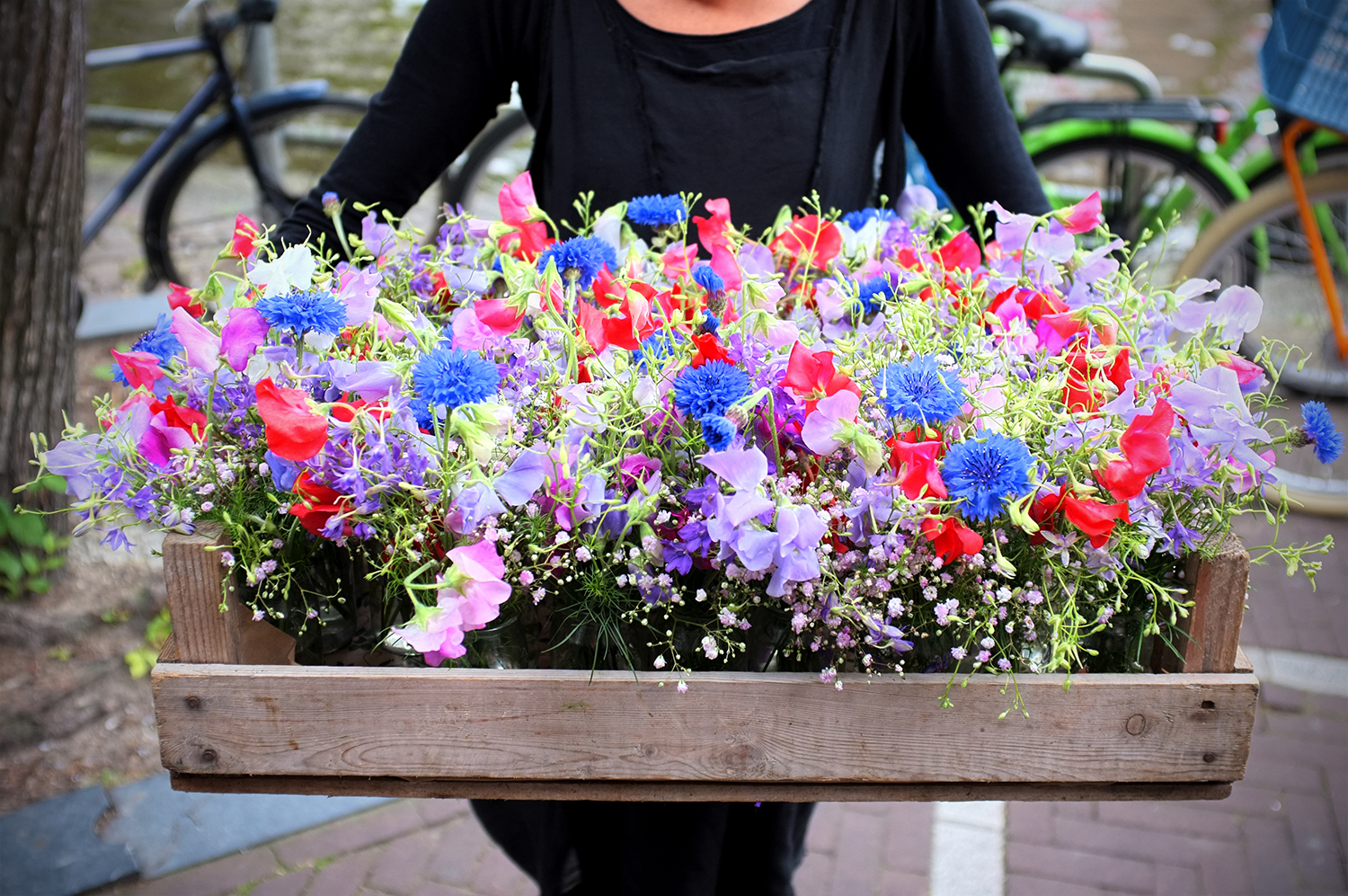 Seasonal flowers on the way to a special event. Image: Melissa Whelan