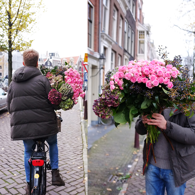 A.P Bloem, florist, bloemist, bloemenwinkel, Amsterdam, flowers, Amsterdam Cycle Chic, bike, fiets, Cycling