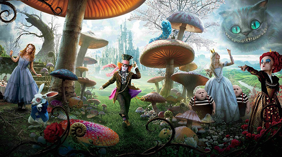 Alice in Wonderland Florist A.P Bloem Amsterdam hotelnacht Andaz Bluespoon fantasy