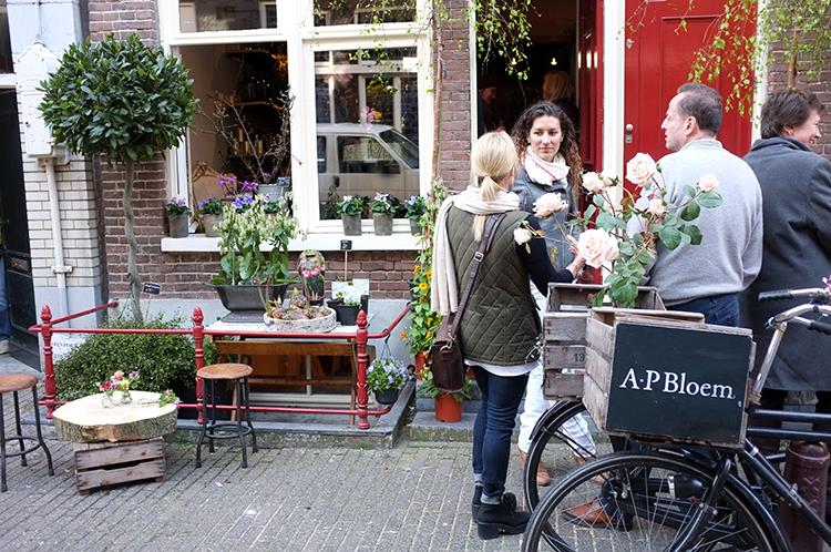 A.P Bloem Florist Flowers Amsterdam Kerkstraat Bloemist Bloemenwinkel new location