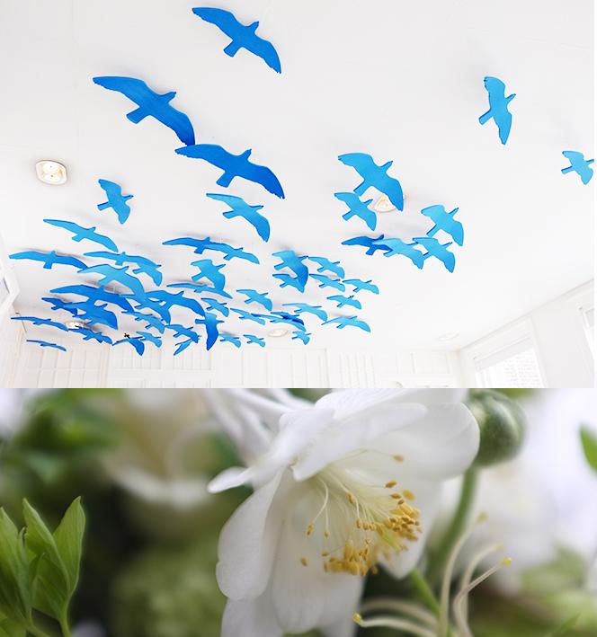 A.P Bloem Hotel Droog Droog Design Cos Press Launch Green White Fresh Flowers Bloemist Bloemen Bloemwinkel Kerkstraat Lifestyle Clothing Autumn Winter collection blue birds ceiling decoration