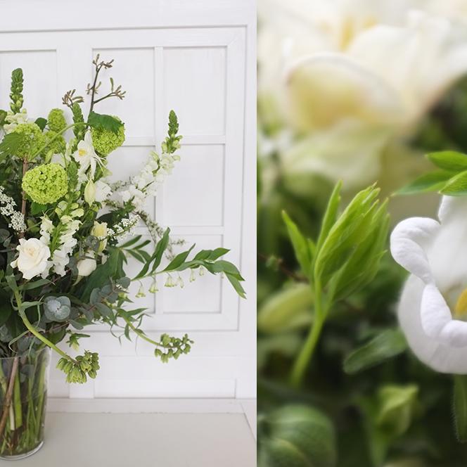 A.P Bloem Hotel Droog Droog Design Cos Press Launch Green White Fresh Flowers Bloemist Bloemen Bloemwinkel Kerkstraat Lifestyle Clothing Autumn Winter collection vase arrangement Spring