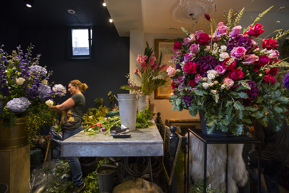 A.P Bloem Florist Amsterdam Florist Bloemist Bloemenwinkel Kerkstraat Open Tuin Dagen Open garden Days event flowers vases Amsterdam Holland