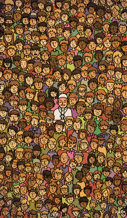 Kat Flores Illustration People Pope