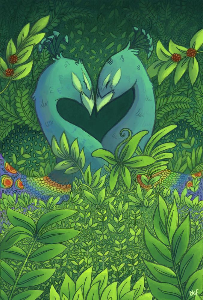 Kat Flores Illustration Queer Bird Love