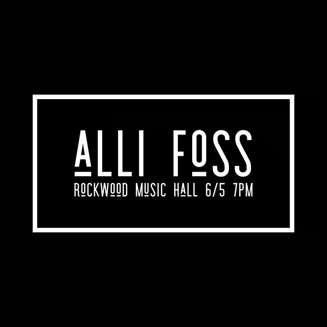 Oh yea. She doin' it. Come on down and hear some music that will make you feel your feels. You will also lay your eyes on @drewwutke @jackback82 @lizasti and @itscardycard || Link for tickets in bio. 🎤 • • • #allifoss #rockwoodmusichall #livemusic