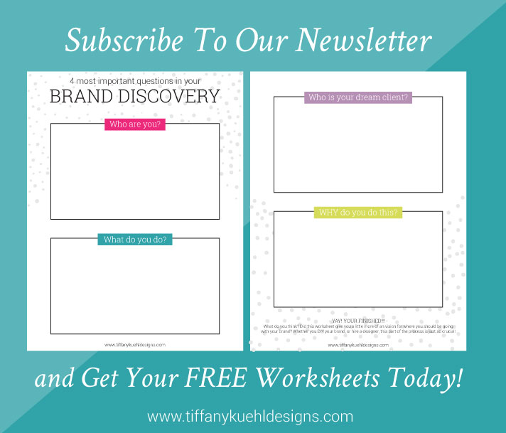 subscribe for freebie | Tiffany Kuehl Designs