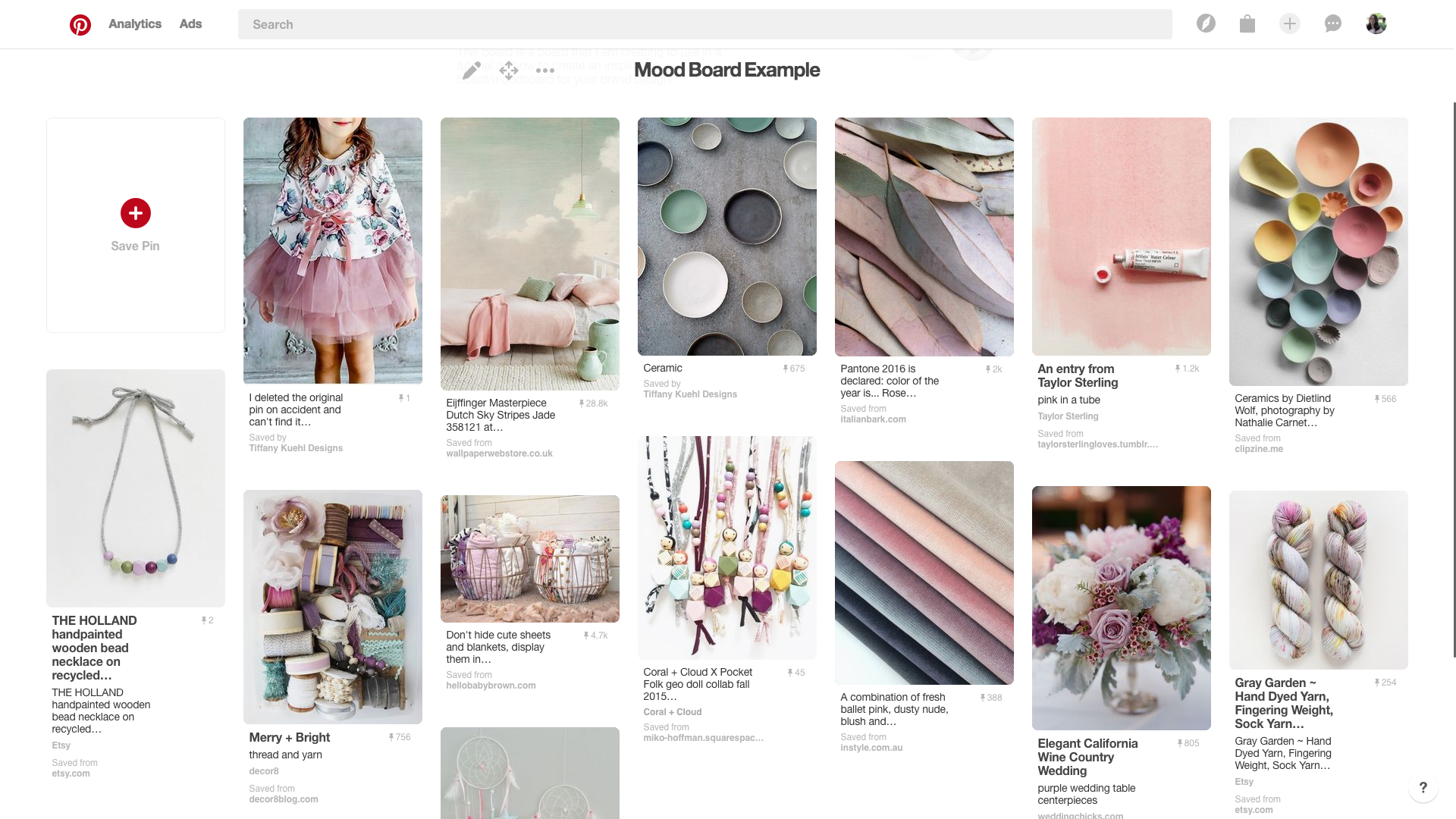 Pinterest Board Example | Creating The Perfect Pinterest Board For Your Brand | Tiffany Kuehl Designs