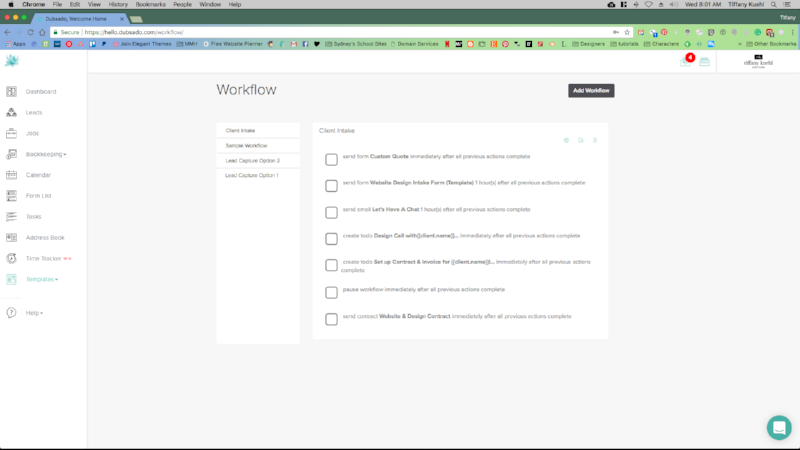 6 Ways Dubsado Changed Our Business | Workflows | Tiffany Kuehl Designs