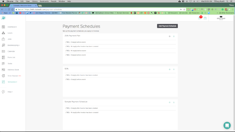 6 Ways Dubsado Changed Our Business | Payment Plans | Tiffany Kuehl Designs