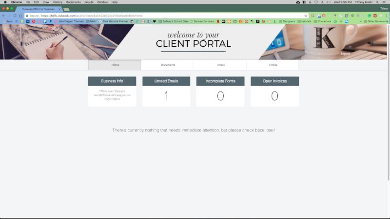6 Ways Dubsado ChangedOur Business | Client Portals | Tiffany Kuehl Designs