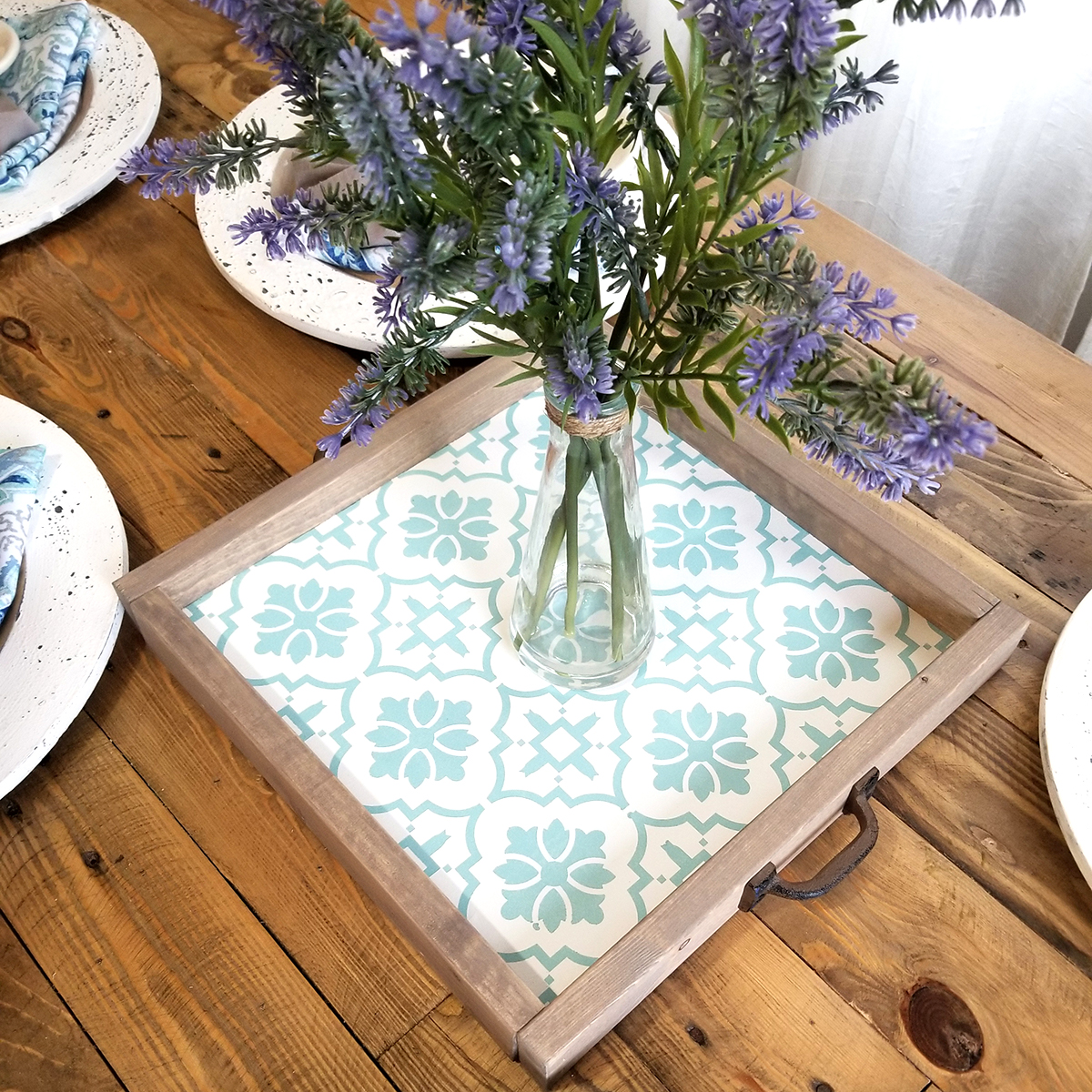 Mosaic Tile Pattern Tray  | Wine Paper Scissors Make It For Me