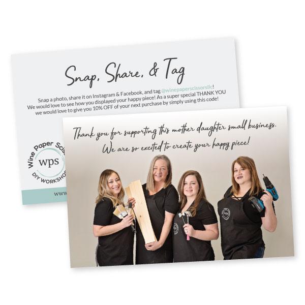 Wine Paper Scissors Social Share Cards | Tiffany Kuehl Designs