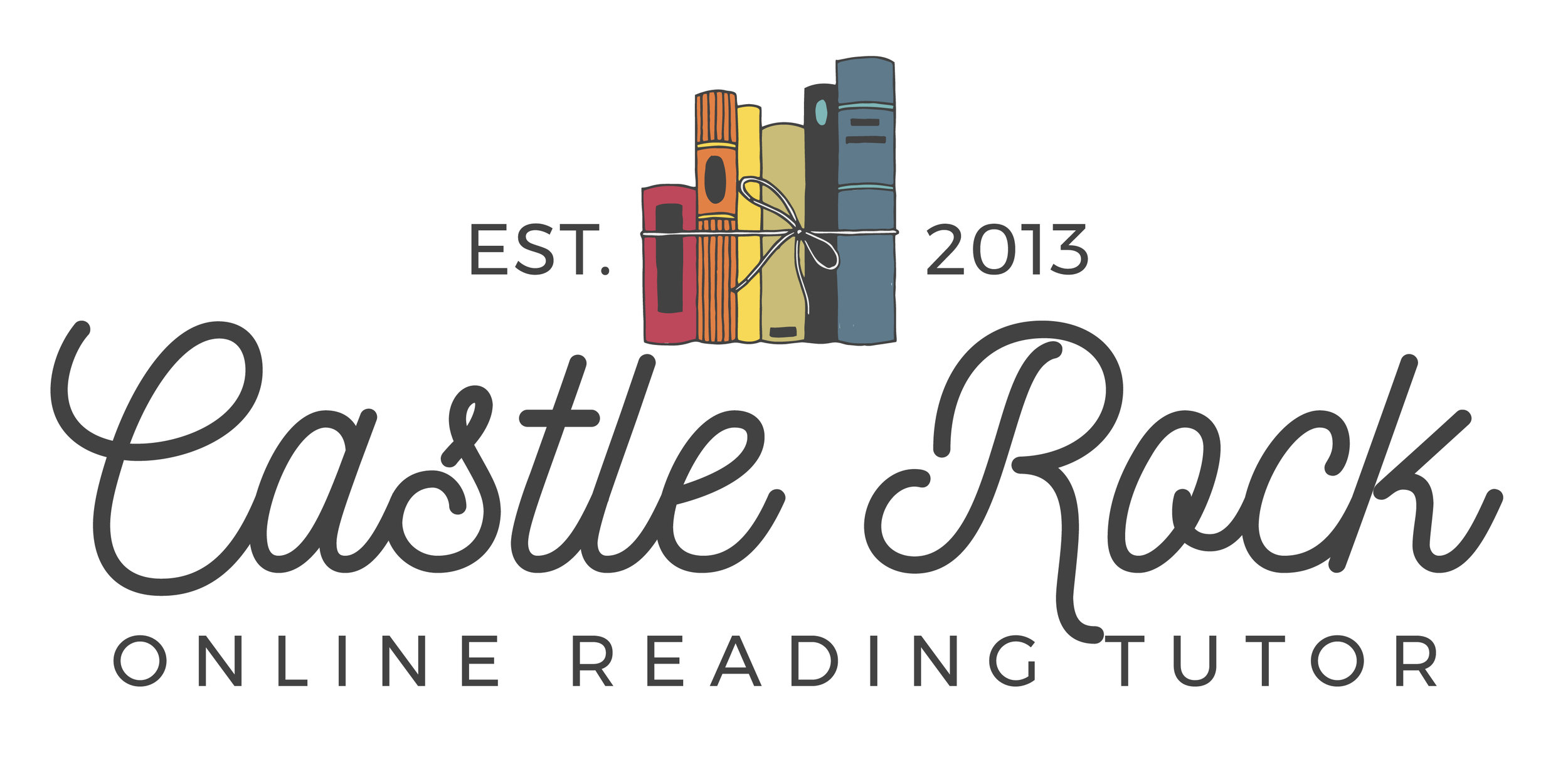 Castle Rock Online Reading Tutor Logo | Tiffany Kuehl Designs  The logo that we created for Castle Rock Online Reading Tutor is pure perfection! We wanted something fun and playful that would appeal to both the parent, and the child. I think this turned out perfectly!  #education #reading #tutor #branding #logodesign
