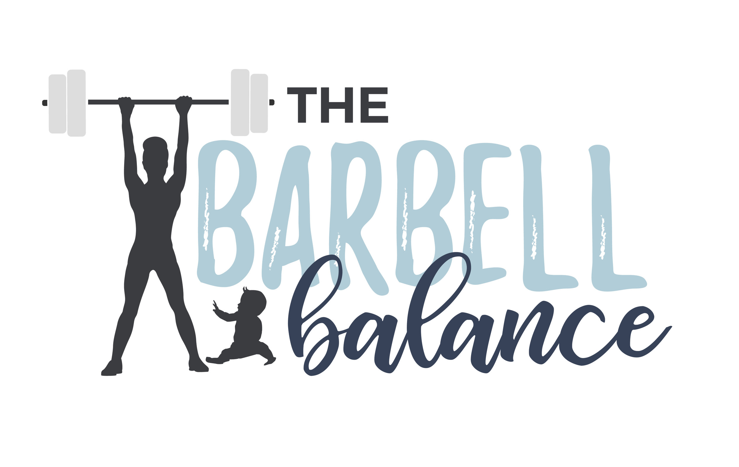 The Barbell Balance Logo | Tiffany Kuehl Designs  Terrell Baldock a busy mom with 3 kids and married for almost 12 years. She grew up in a household where weight was always an issue and unhealthy habits were a part of her norm. That's a cycle she hopes to break for not only her family, bot many other families out there. Terrell works with women to empower them to love their bodies on the inside out. Her ideal client is a new or second-time mom who is looking for a healthier approach to fitness during/after pregnancy. She is someone who has an active history but is experiencing issues with her pelvic floor. She is looking to regain her previous abilities without these issues.  #branding #websitedesign #divi #dividesign #postpartumfitness #fitnesscoach #fitness