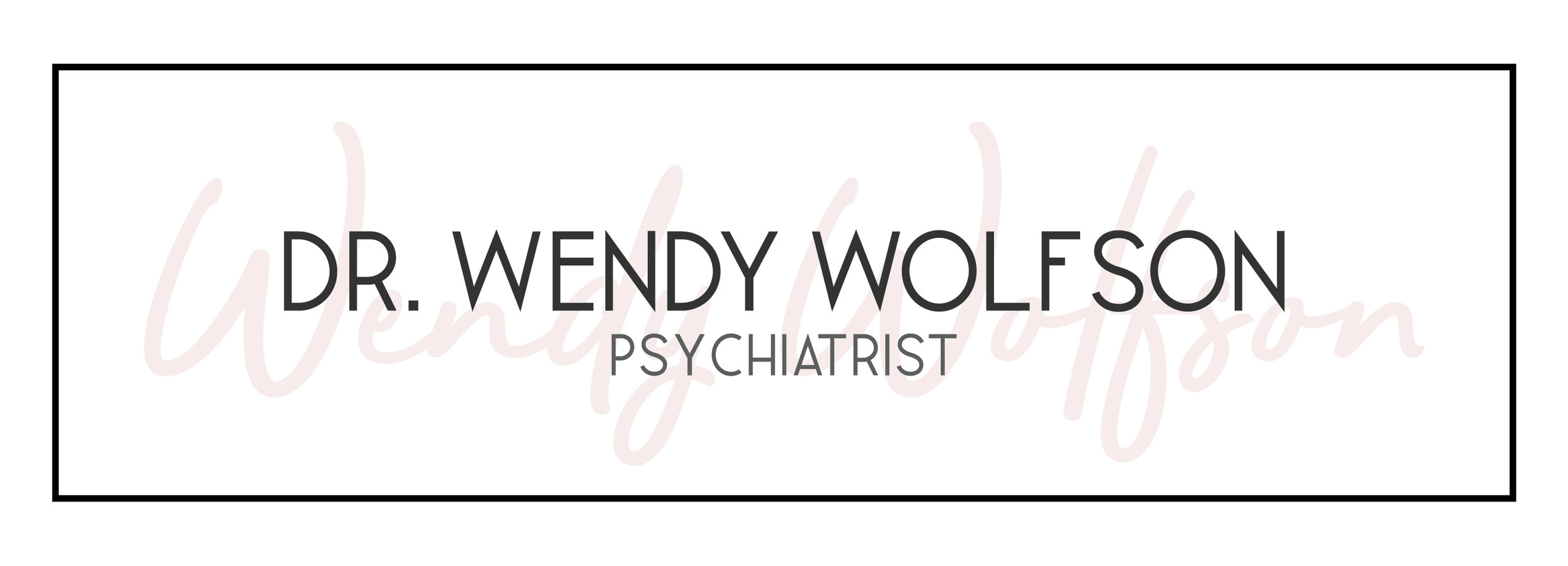 Dr. Wendy Wolfson | Tiffany Kuehl Designs  Everything about this logo speaks natural elegance to me. It's fun, peppy, but very simple in terms of color. This logo was so fun to design, and I love each and every element of it.  #branding #customlogo #logodesign #luxuriousbranding #custombranding #elegantbranding #phsychiatristlogo #pshychiatristbranding