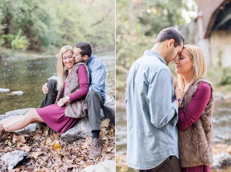 Caroline and Dan | Romantic and Fun Riverside Fall Virginia Engagement Session | Carla Jane Photography | Nashville Wedding Photographer