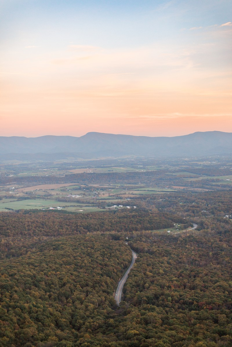 Beautiful fall sunset of the Blue Ridge Valley | Carla Jane Photography