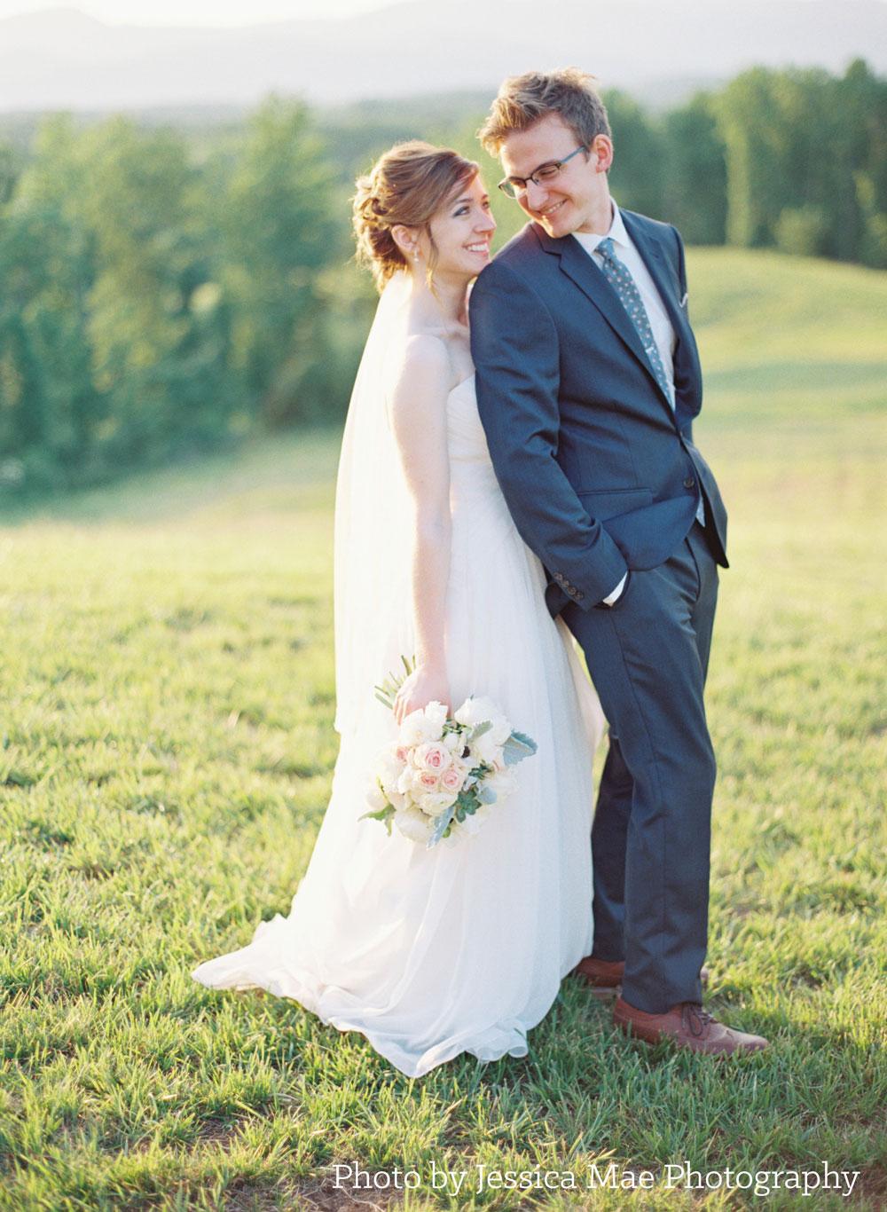 Wedding portrait by Jessica Mae Photography, Lynchburg, VA