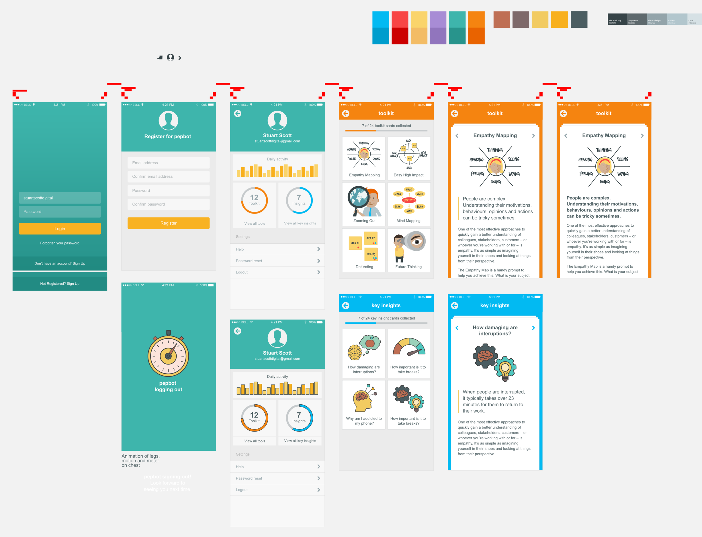 Polished designs, showing far more pages and functionality than the initial scope!
