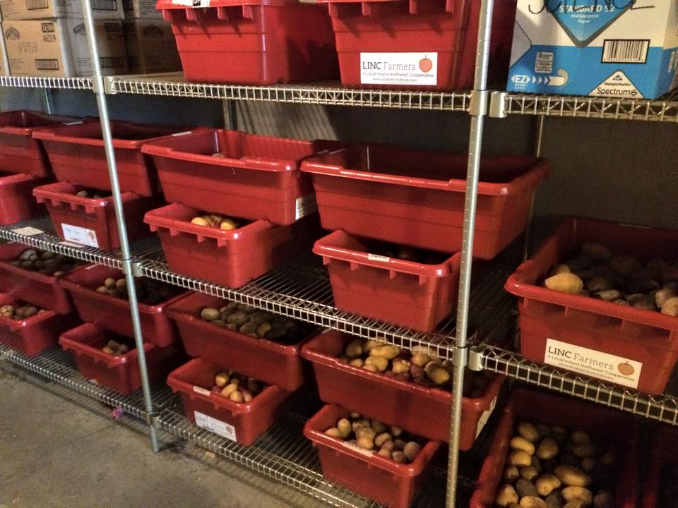 Potatoes from Olsen and Full Bushel Farms headed out for a harvest-of-the-month feature at Mead School District.