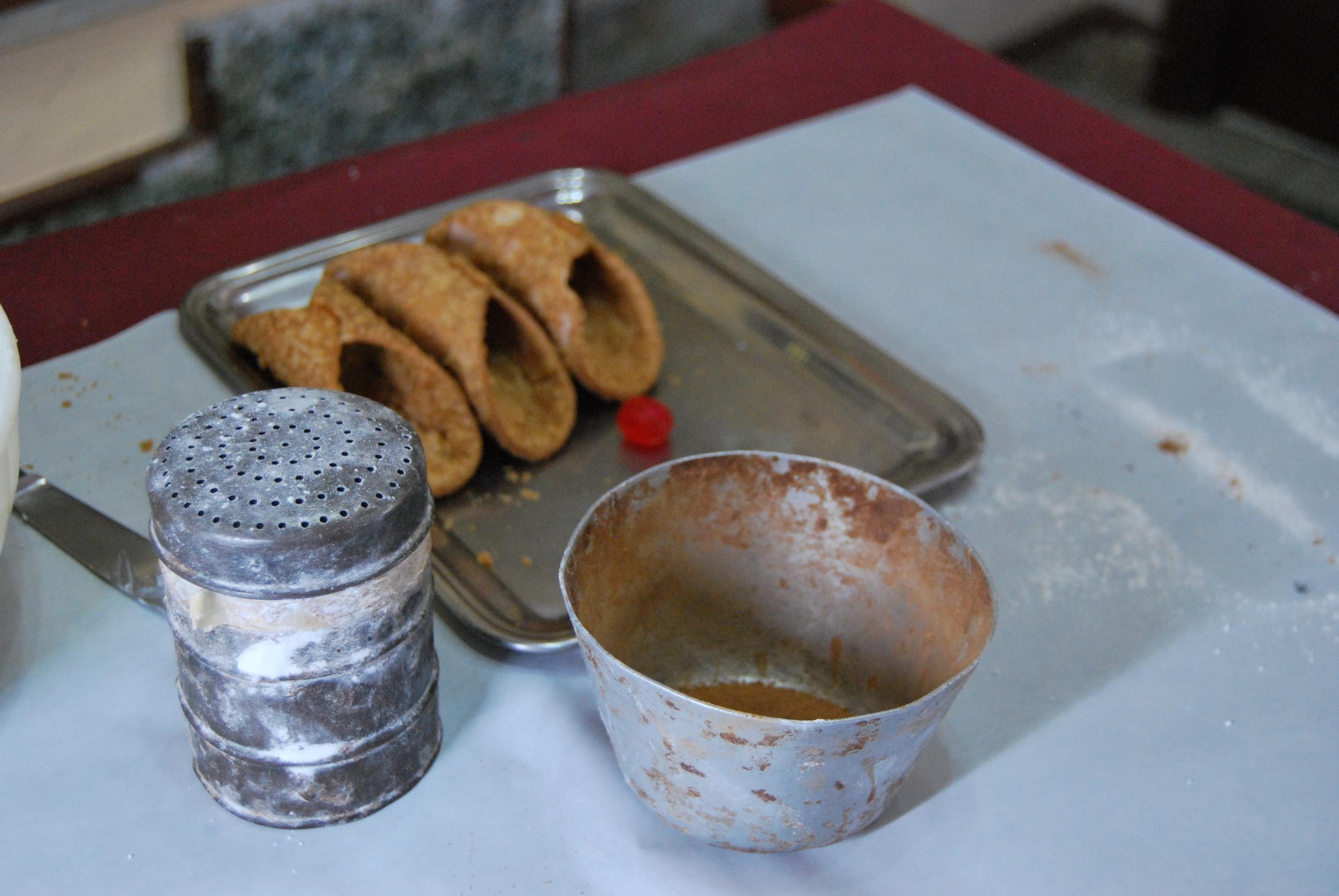 Preparations of the Sicilian desserts
