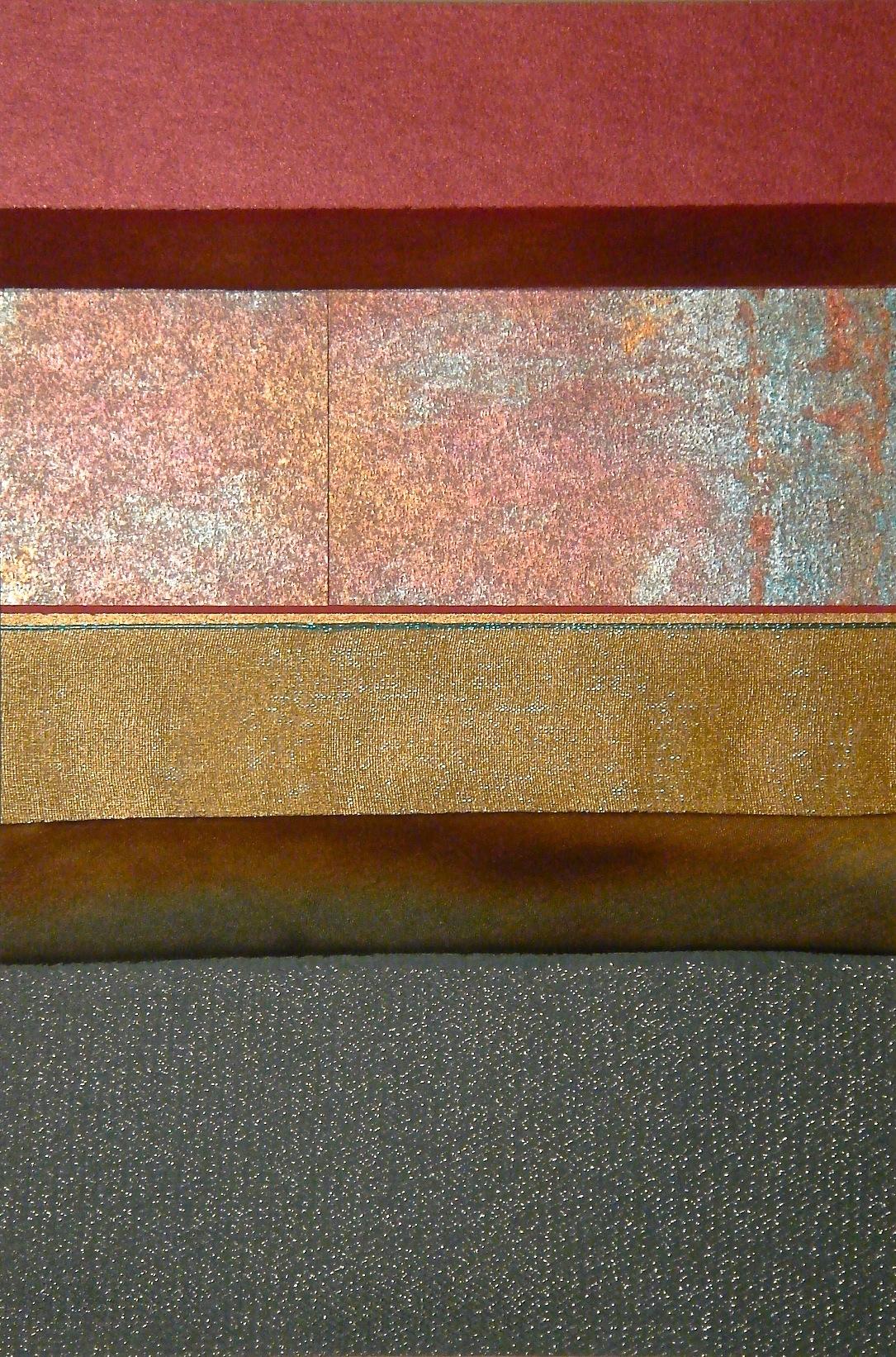 "Metallic Series   12"" x 16""  Paper and Silks  2006"
