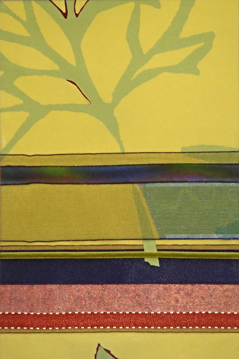 "Japan Series    Japan I   12"" x 16""  Paper and Silks  2007"