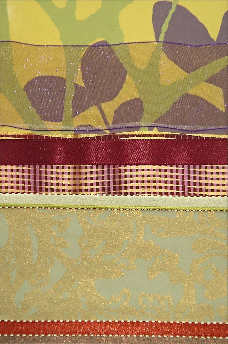 """Japan Series    Japan III   12"""" x 16""""  Paper and Silks  2007"""