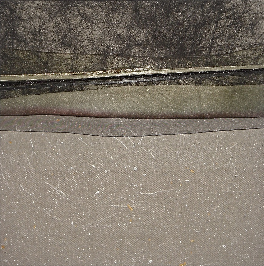 """Nightscapes Series    Winter Forest Glow   19"""" Sq.  Paper and Silks  2009"""