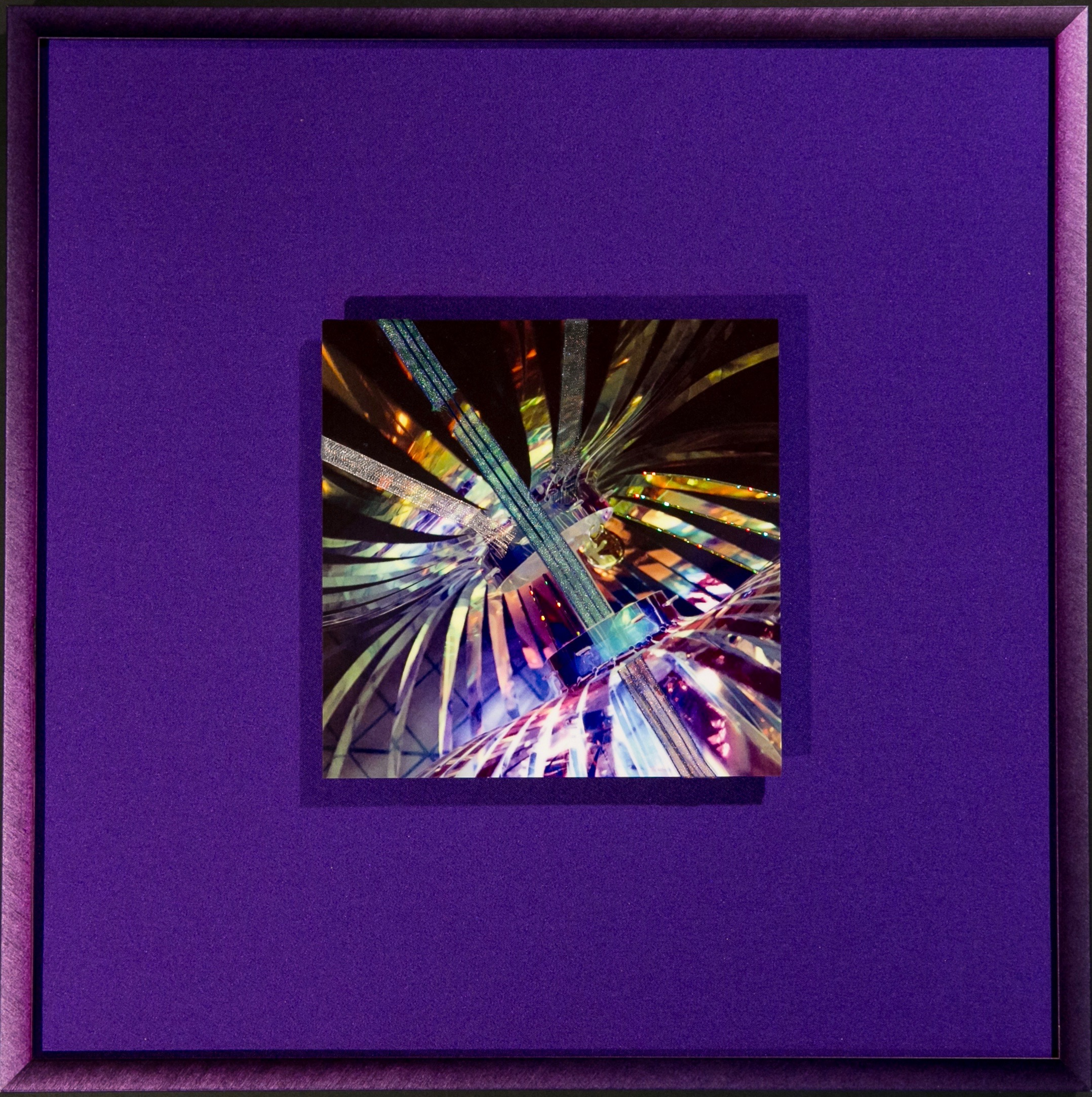 "Chroma Series    Titanium   14"" Sq  Metal Print with Silks  2018"