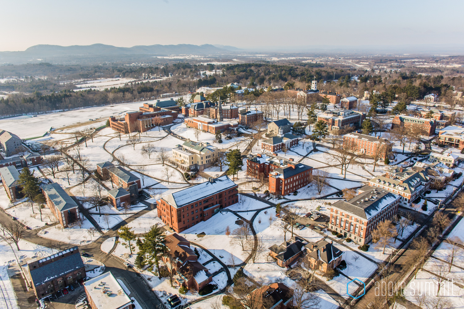 Amherst College Aerial Photograph Boston Drone