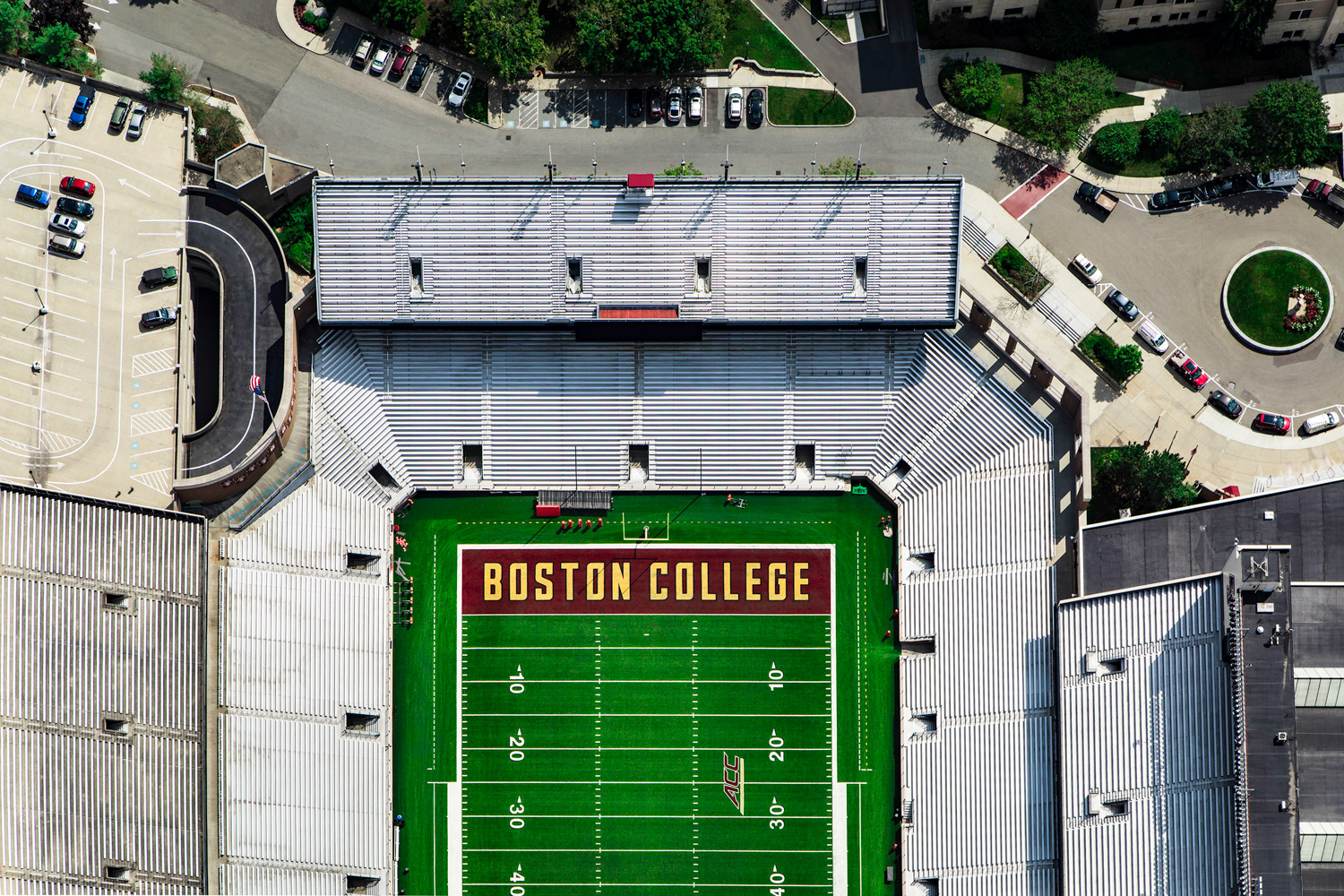 Boston College Aerial Photograph Drone