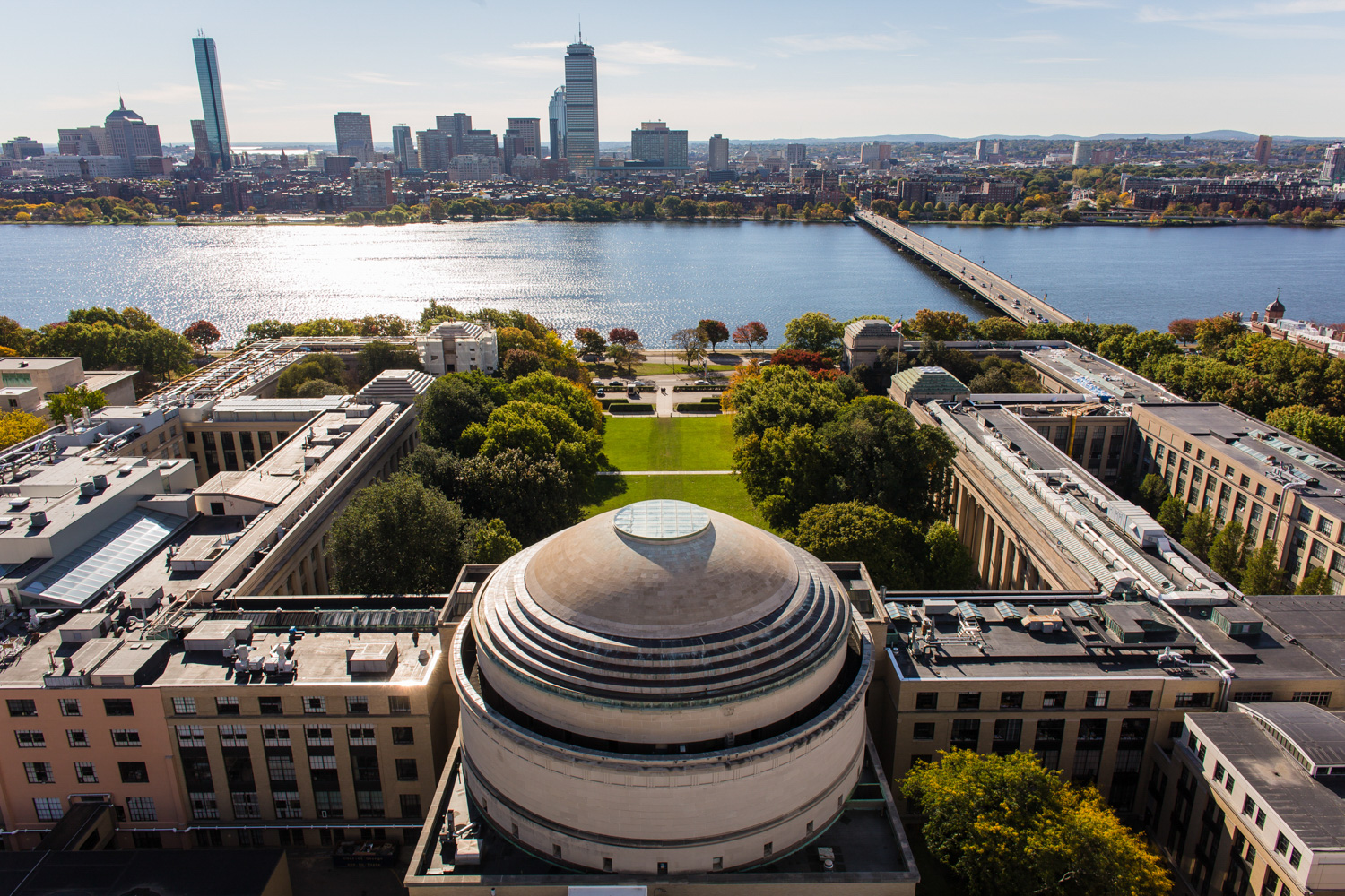 MIT Aerial Photograph Boston Drone