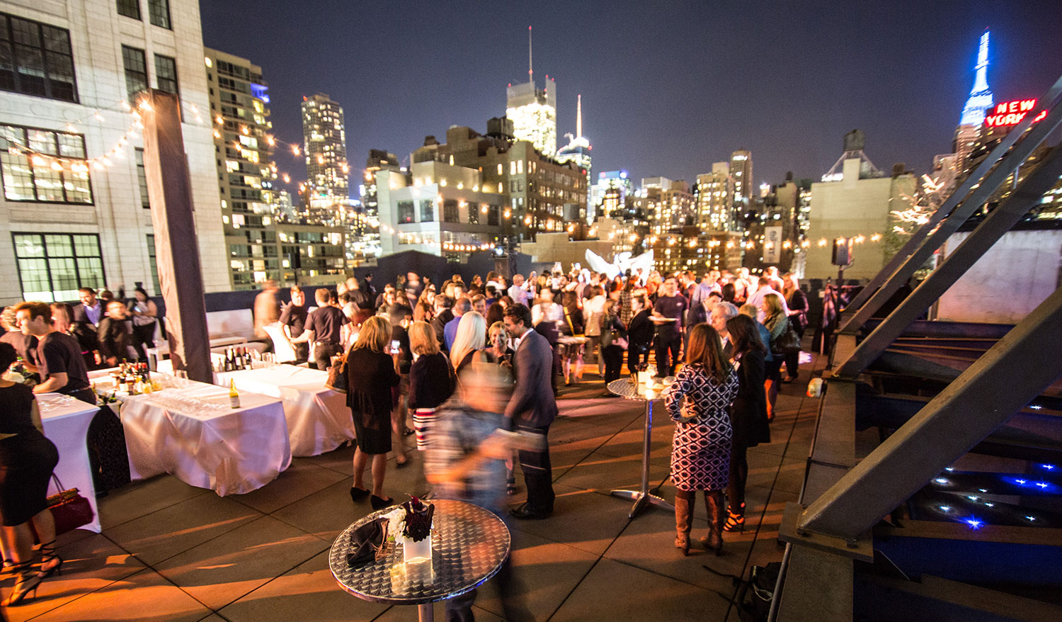 The gorgeous view from 'A Thomas Preti Affair'rooftop party.